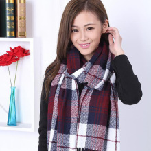 2016 Hot Autumn And Winter Cashmere Plaid Tartan Double Sides Lengthen Thick Warm Scarf Shawl Female Cappa Tippet Tassel