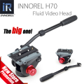 INNOREL H70 Fluid Video Head Hydraulic Damping for DSLR Tripod Monopod Manfrotto 501PL Bird Watching 8kg load Big Stable Solid