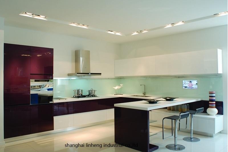High Gloss/lacquer Kitchen Cabinet Mordern(LH-LA048)
