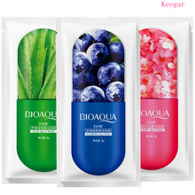 Bioaqua Moisturizing Blueberry Cherry Jelly Face Masks Wrapped Oil Control Smooth Tender Replenishment Facial Mask Skin Care bioaqua snail replenishment tender and moist and perfectly clear gift box with smooth skin rejuvenation facial skin care kit