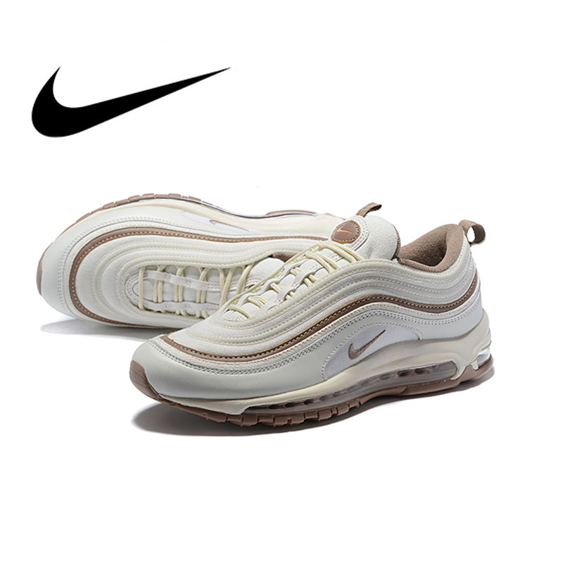 NIKE Air Max 97 Silver Mens Running Shoes Mesh Breathable Stability Support Sports Sneakers For Men Shoes