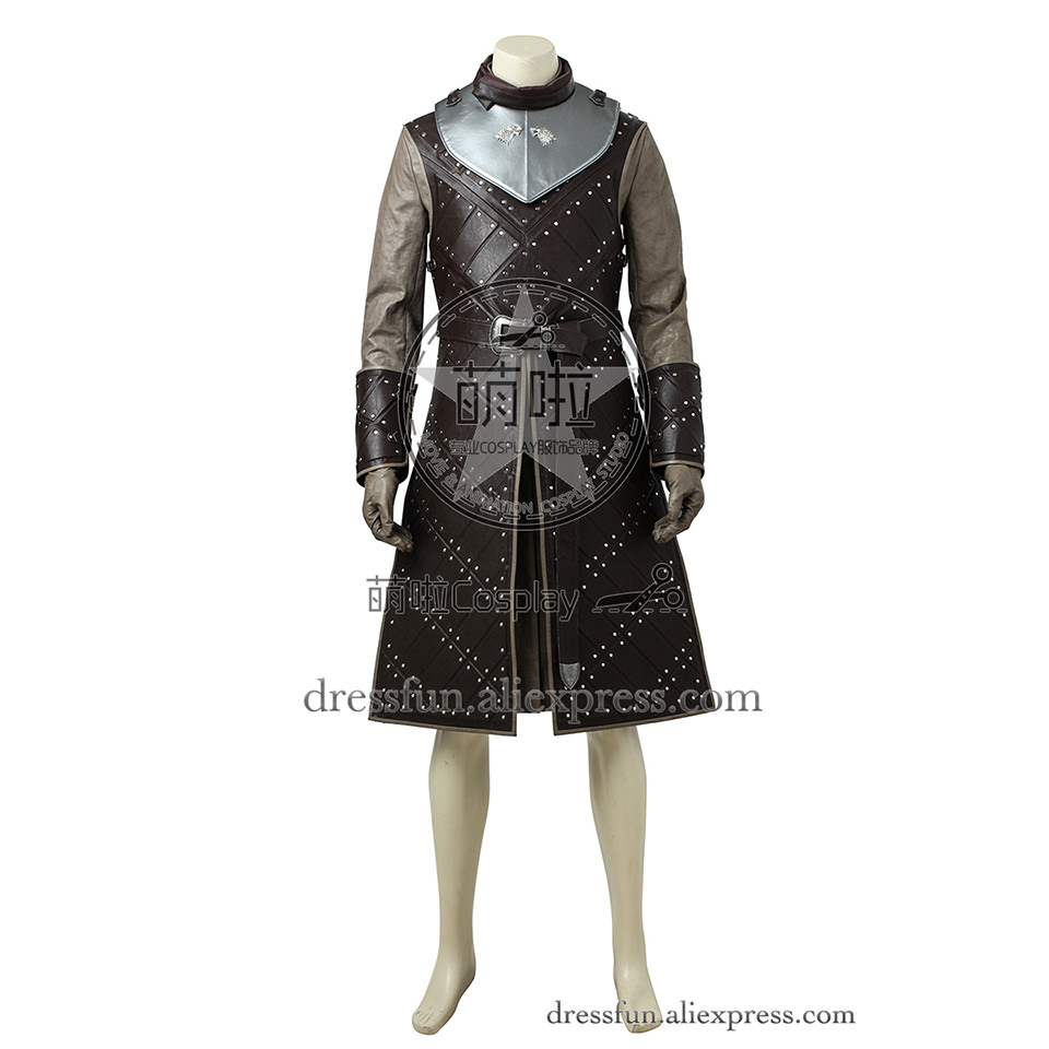 Game of Thrones Season 7 Cosplay Costume Jon Snow Costume Comfortable Cool Fashion Clothing Exquisite Coat Fast Shipping