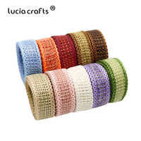 10yards/lot 10mm Jute Burlap Hemp Trim Ribbon DIY Headwear Bow Crafts Wedding Party Decorative Packaging Accessories P0517