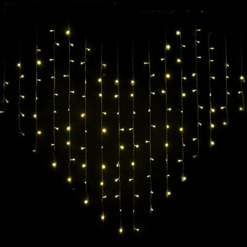 yimia 2x16m led holiday christmas curtain lights heart dripping icicle lights 128 led string fairy lights wedding decorations in led string from lights