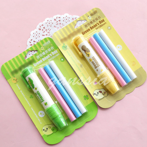 1pc/lot New Arrival Can Press Erasers Creative Pencil Design Rubber Eraser School Stationery (ss-1184)