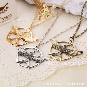 Hunger Game Ridicule Bird Necklace Pendeloque Cut Sweater Chain