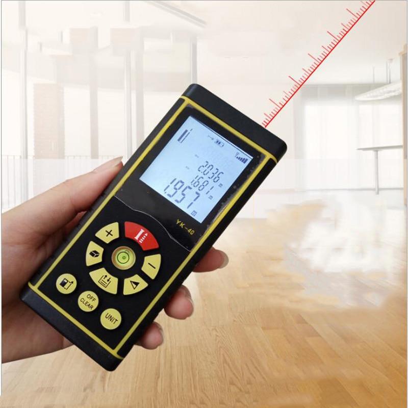 Voice rangefinder digital laser range finder 40M/60M handheld Rangefinder electronic rule instrument equipment ruler test tool