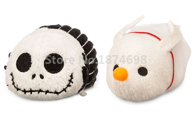 2pcs tsum tsum mini plush toys the nightmare before christmas jack and zero dog kawaii toy