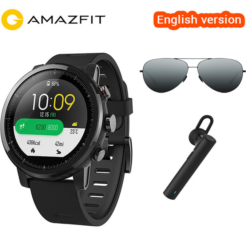 English Version Xiaomi Huami Amazfit Stratos Pace 2 Smart Watch With Professional Waterproof Sports Watch GPS Fitness Monitor