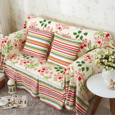 Couverture De Canape Blooming Flowers Cloth Sofa Covers Warm And Hy Home Textile Cover Gorgeous Color Stripes Design In From