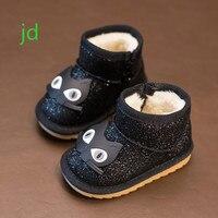 Children's Kids Winter Keep Warm Children Snowfield Short Girls Boots Paillette Cotton-padded Shoes Botas