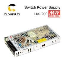 Meanwell LRS 200 تحويل التيار الكهربائي 12V 24V 36V 48V 200W الأصلي MW تايوان العلامة التجارية LRS 200 24