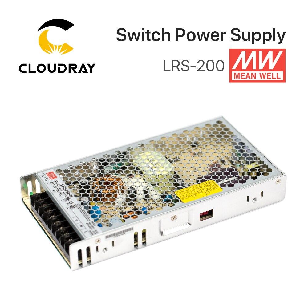 Meanwell LRS-200 alimentation à découpage 12V 24V 36V 48V 200W Original MW Taiwan marque LRS-200-24