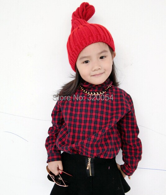 1 Pcs 2014 New The Spring And Autumn Period Fashion Pointed Children Knitted Cap Lovely Boys And Girls Hat 5 Colors
