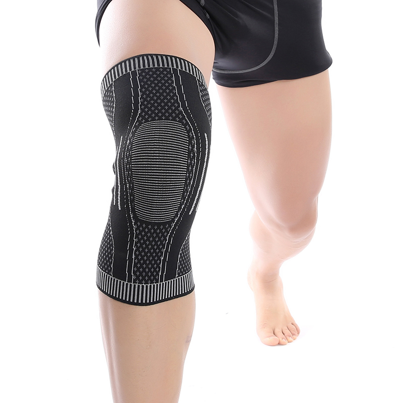 New Weaving Process Anti-slip Knee Pad High Elastic Integrated Molding Knee Support For Basketball Running Hiking Sports Safety