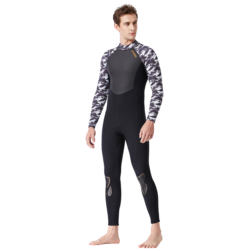 DIVE SAIL WS-19483 Mens One-piece Long-sleeve Diving Suit Comfortable Durable Sun-proof Waterproof Anti-piercing WetsuitsDIVE SAIL WS-19483 Mens One-piece Long-sleeve Diving Suit Comfortable Durable Sun-proof Waterproof Anti-piercing Wetsuits