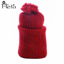 Fleta Doll doll accessories Handwork Red Wool Knit Hat for 14.5 inch Dolls Best Gift