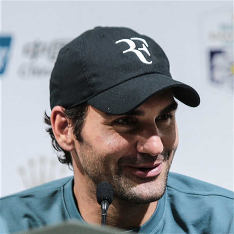 2018 Tennis Star Roger Federer Dad Hat Sport   baseball     cap   100% cotton 3D embroidery Unisex Snapback   caps   Tennis hat F Hats