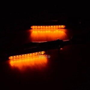 Image 2 - Motorcycle LED Turn Signal Indicators Lights Universal flashers motocross light for yamaha YZF R1 2009 2014 2010 2011 2012 2013