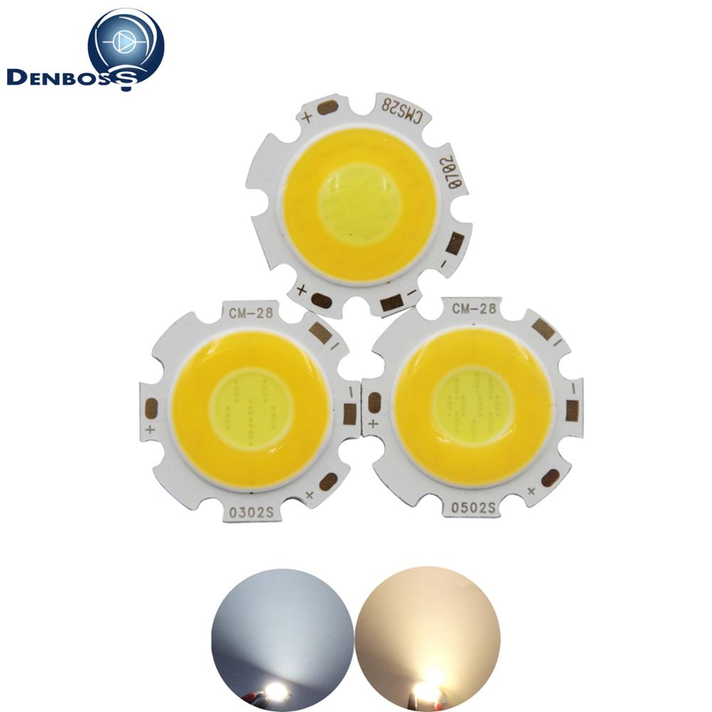 Double color 3000-6500K dimmable 28mm Round LED COB chip Light Source Module 3W 5W 7W COB led bulb lamp for led spotlight bulb