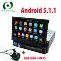7 polegada 5.1.1 Único 1 Din Android RK3188 Quad Core 1.6 Ghz RÁDIO Do Carro Universal GPS ÁUDIO ESTÉREO Multimídia Capacitiva tela sensível ao toque