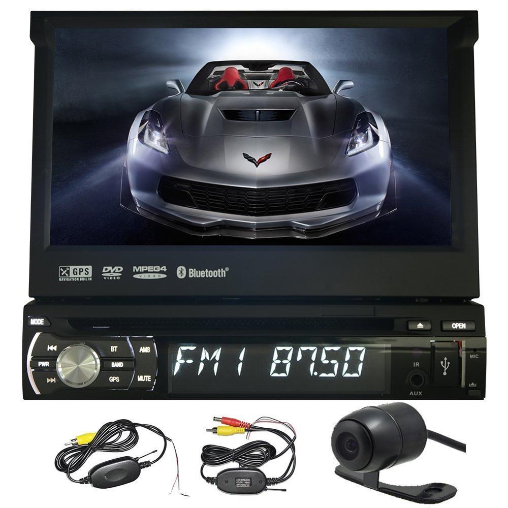 7 inch 1Din Car cd DVD Player GPS Navigation In-dash Detachable Panel Auto Radio Audio Stereo free camera steering wheel control