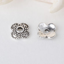 solid 925 sterling silver plum flower bead cap,Thai Silver spacer bead caps,jewelry diy silver findings/components(China)