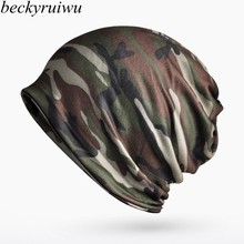 Camouflage Wraps Hats Men Ourdoor Sport Cycling Skullies Women Spring Summer Fall Hiphop Punk Rock Beanie Hats