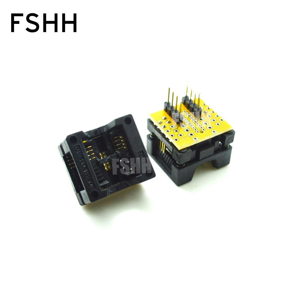 SO8 SOP8 To DIP8 SOP8 Turn DIP8 IC Programmer Adapter Socket  Wide 200miL 208Mil For SPI FLASH  EEPROM