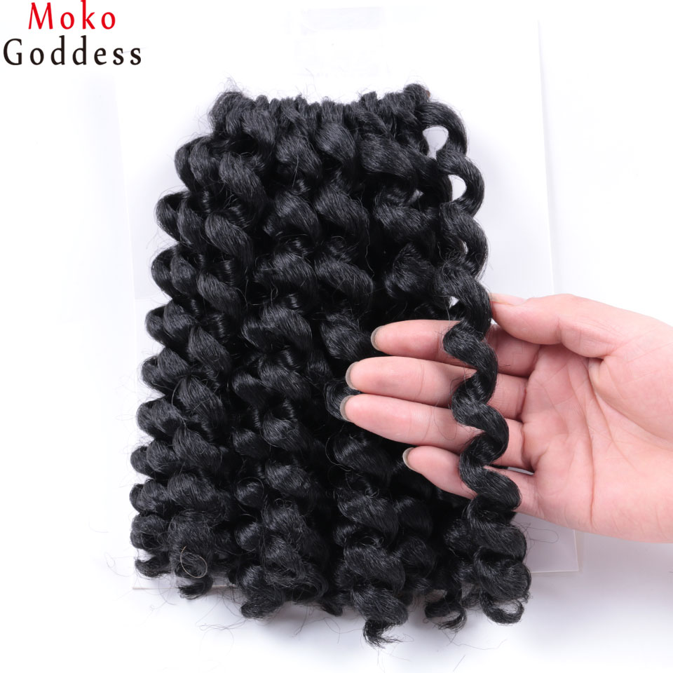 Jamaican hair braiding promotion shop for promotional jamaican synthetic hair crochet braids hair extensions 8 20 strands jumpy wand curl twist braid hair jamaican bounce crochet hair pmusecretfo Choice Image