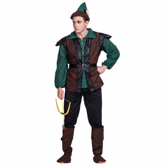 8d0d8311178 2017 New Arrival Top Hat Boot Suit 3 Piece Party Plus Size Robinhood Men  Party Cosplay Anime Costumes Adult Halloween Costumes-in Holidays Costumes  ...