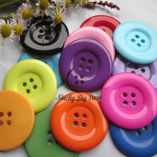 50pcs 38mm 4 holes Colorful resin coat buttons large fashion buttons clothing accessories diy sewing craft accessories