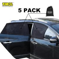 Tirol Sides Window Sunshades T25695P3 Universal 4 pcs/set Car Curtain the Whole Sun UV Visor Protector Mesh Cover Privacy Shield