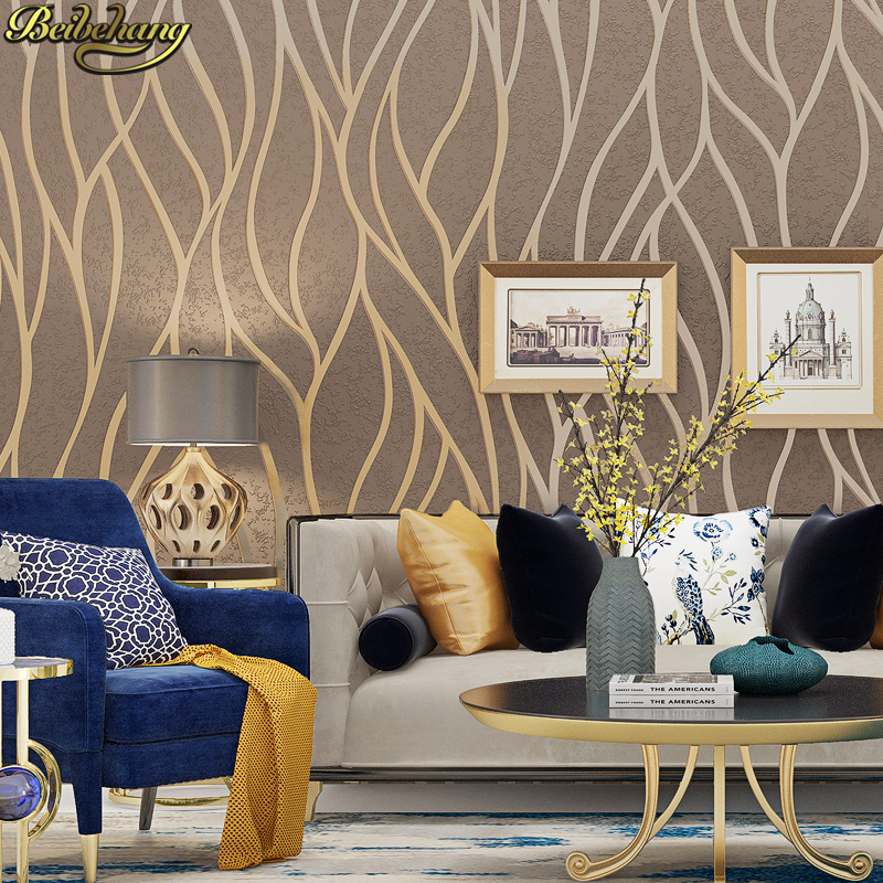 beibehang Modern personality curve Gray Striped wallpaper for walls 3 d Wallpaper For Wall paper Bedroom wall papers home decor beibehang foil paper gold wallpaper material suspended ceiling wallpaper for walls 3 d bar ktv backdrop wall papers home decor