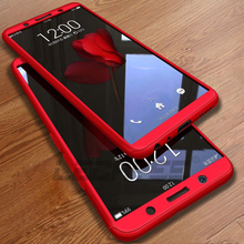 LECAYEE Matte Case For Vivo V7 Plus 360 Full Cover Case For Vivo V9 V7+ Y71 Y83 X21 V9 Youth Y81 Case Back Cover With Glass стоимость