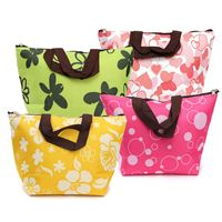 Oxford and Foil Insulated Bag Thermal Waterproof Flower Heart Dot Tote Insulated Bag Picnic Lunch Box Handbag outdoor picnic bag