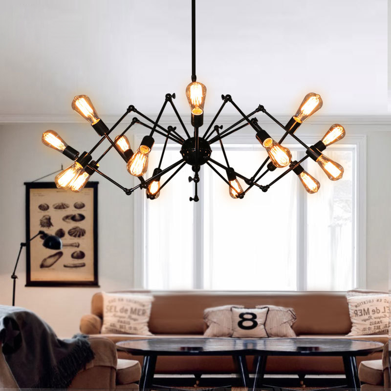 livewin vintage spider pendant light loft industrial. Black Bedroom Furniture Sets. Home Design Ideas