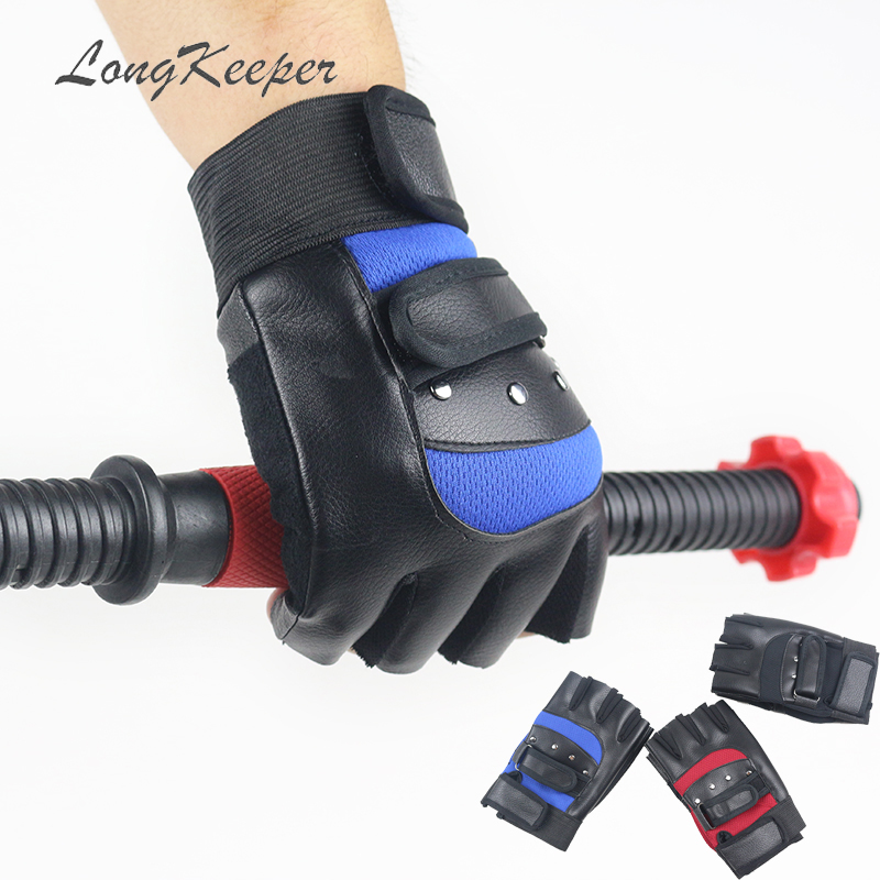 Purposeful Longkeeper Fashion Autumn Winter Sport Gloves Half Fingers Pu Leather Mittens Unisex Anti-slip Suede Black Red Blue Guantes G365 Back To Search Resultsapparel Accessories