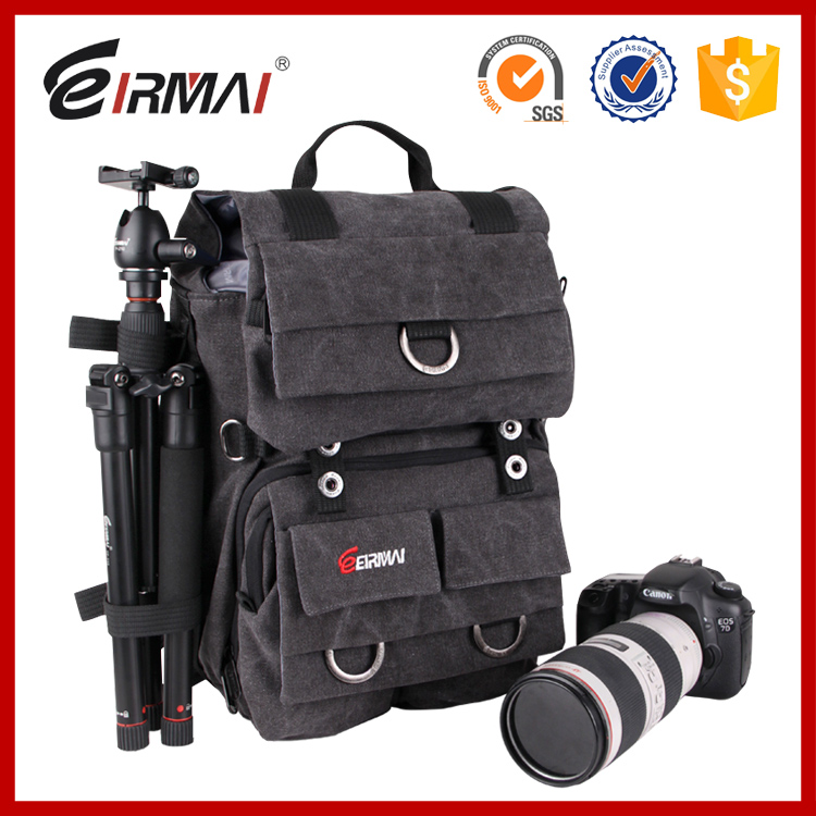 EIRMAI SD02 waterproof canvas bag shoulder professional customized floral canvas backpack for Canon Nikon Sony Olympus Pentax t1 single shoulder canvas lightweight waterproof video backpack camera bag case cover for canon nikon pentax sony fuji dslr