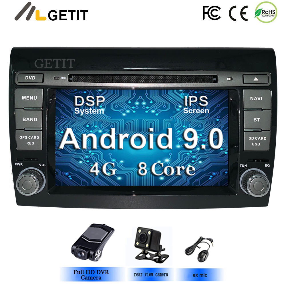 Android-9 GPS Multimedia-Player Radio Fiat/bravo Stereo-System Octa-Core 2-Din Car