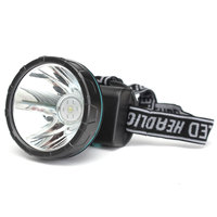 Waterproof 5W 600 1000LM LED Miner Chrome Alloy Bicycle Light Mining 2 Modes Headlight For Hunting