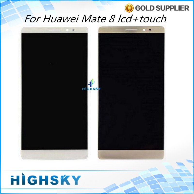 ФОТО Original New Display For Huawei Mate 8 NXT-AL10 LCD With Touch Screen Digitizer Assembly 10 PCS Free DHL/EMS Replacement Parts