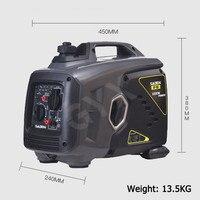 Gerador portátil portátil da gasolina do gerador da gasolina do inversor de 1kw 220 v digitas ultra-silencioso