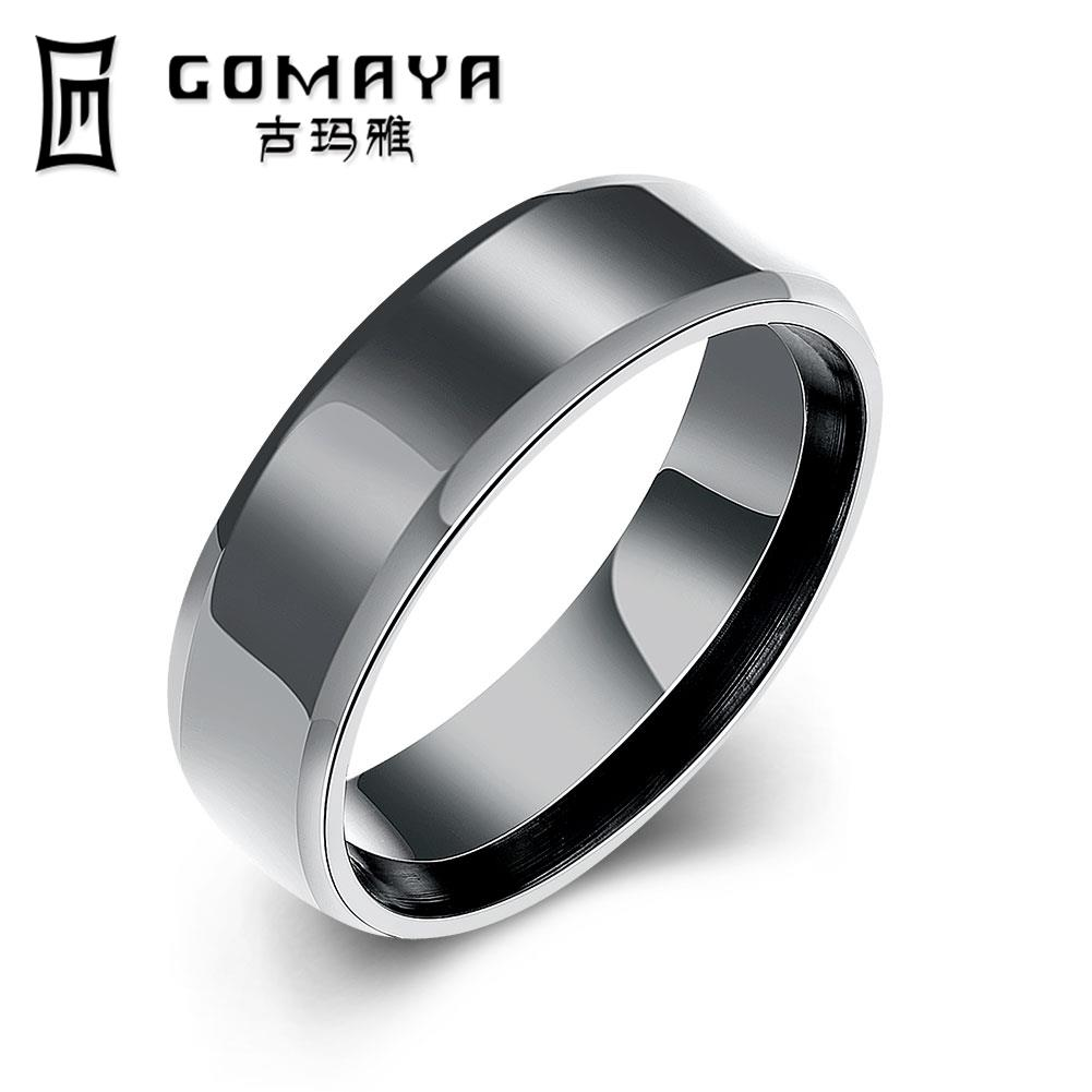 Top Quality Real Titanium Rings For Women Men Fashion Charms Black Vintage Rings  Wedding Bands Jewelry