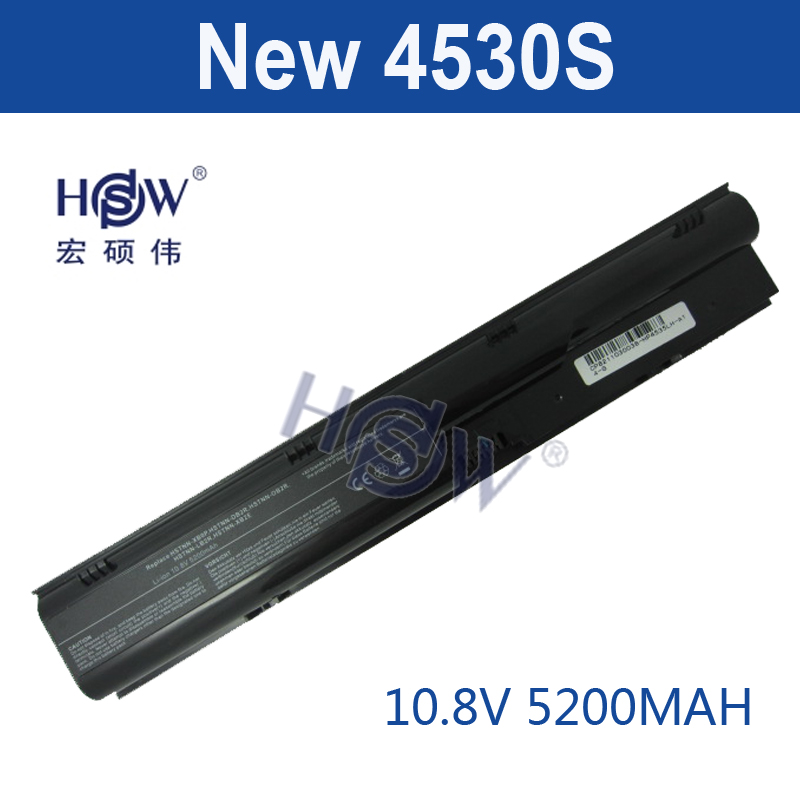 HSW 5200MAH 6cells new replace Laptop Battery For HP Probook 4330S 4331S 4430S 4431S 4435S 4536S 4530S HSTNN-OB2T PR09 bateria