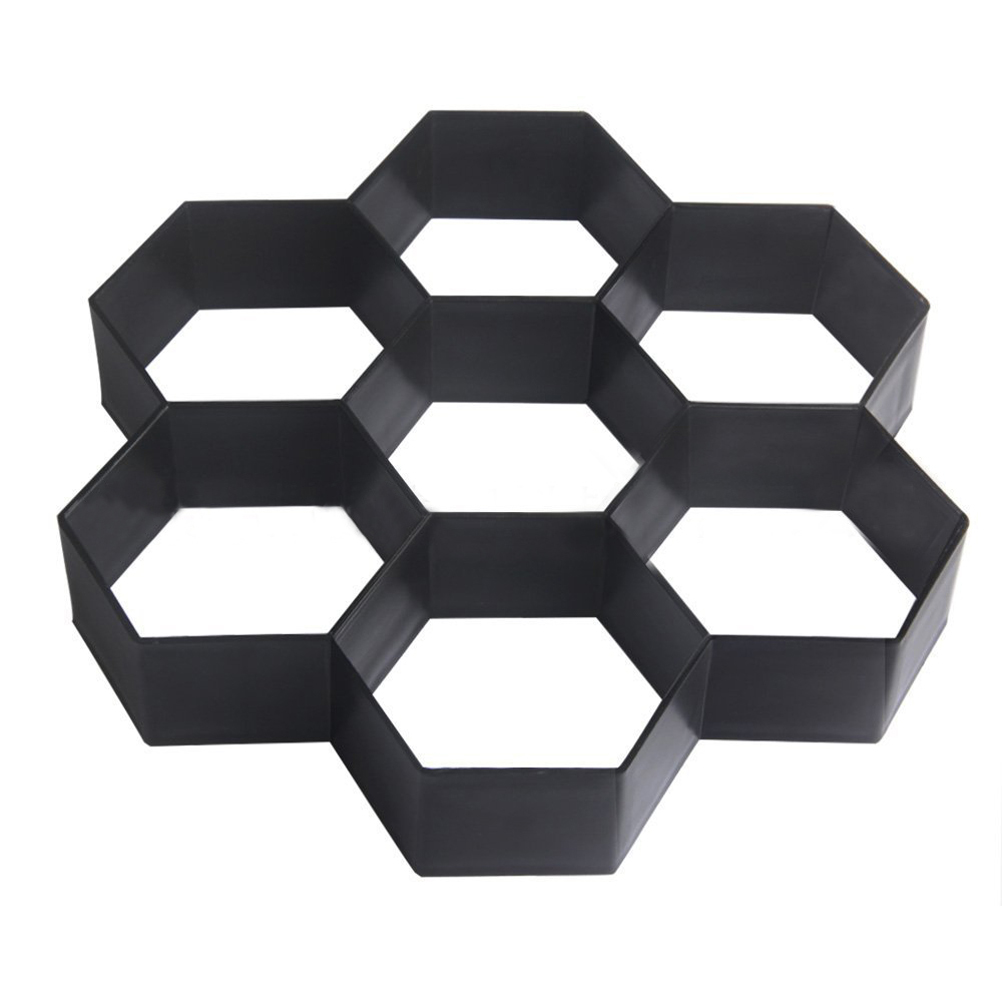 black Careful Calculation And Strict Budgeting Strong-Willed Bestoyard Diy Plastic Path Maker Mold Hexagon Manually Paving Cement Brick Molds For Garden Decor