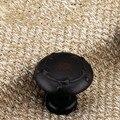 30mm angústia preto cobre antigo armário de Cozinha knob alças red bronze gaveta do armário cômoda lida com puxadores de móveis puxar