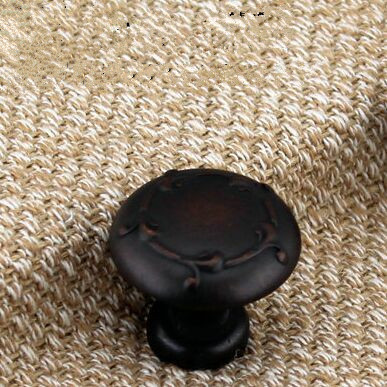 30mm distress black antique copper Kitchen cabinet  knob handles red bronze drawer dresser cupboard furniture handles knobs pull damsel in distress