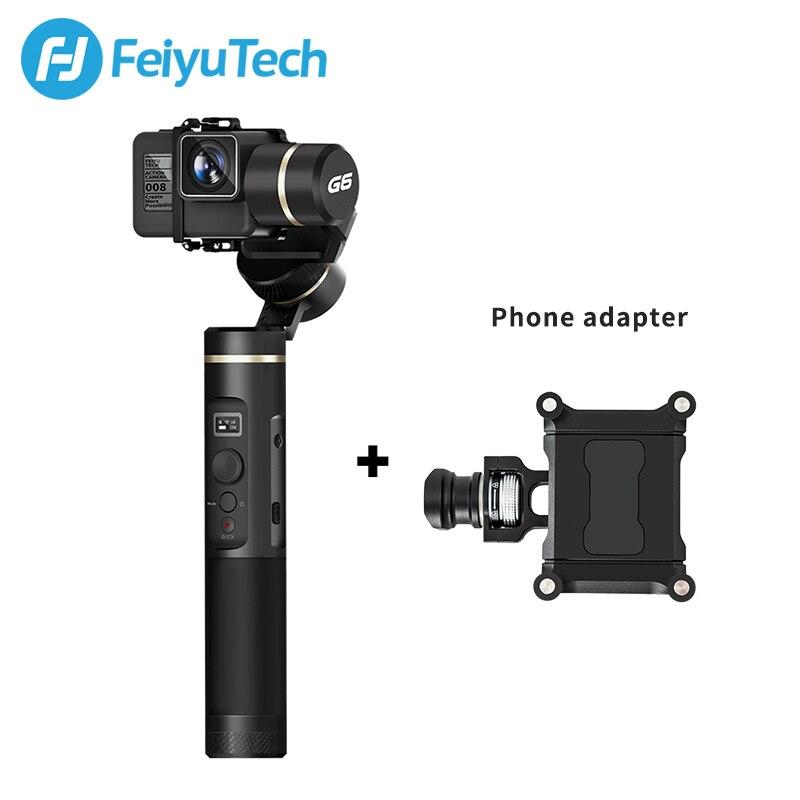 Caméra d'action FeiyuTech G6 étanche aux éclaboussures caméra d'action Feiyu Wifi + Bluetooth OLED Angle d'élévation d'écran pour Gopro Hero 6 5 RX0