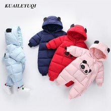 Зимний детский костюм с пандой, комбинезоны, комбинезон, Одежда для новорожденных девочек, зимний комбинезон для мальчиков, детская зимняя одежда